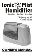 Ionic Mist Humidifier Owners Manual